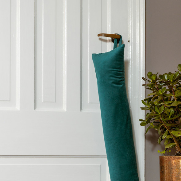 Luxury Velvet Draught Excluder - Teal (Available in 2 Sizes)