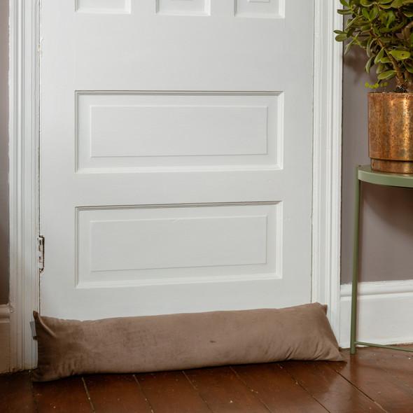 Luxury Velvet Draught Excluder - Cedar (Available in 2 Sizes)