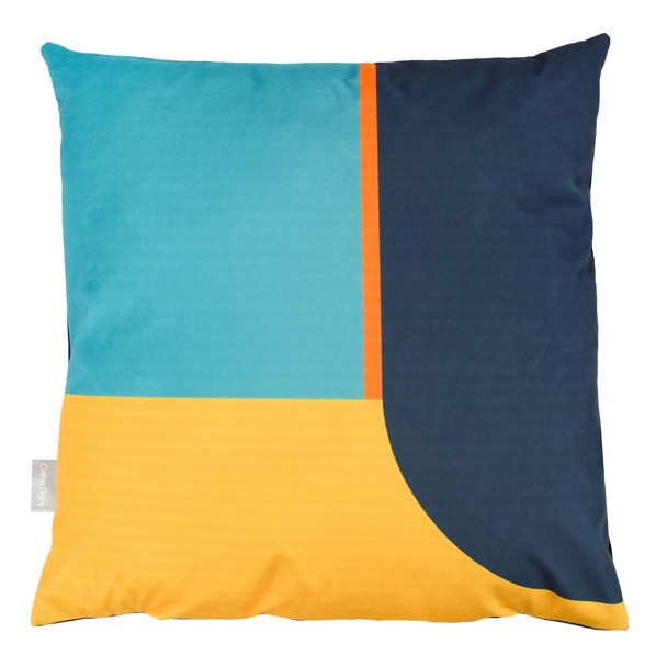 Opulent Velvet Cushion - Blue Harmony