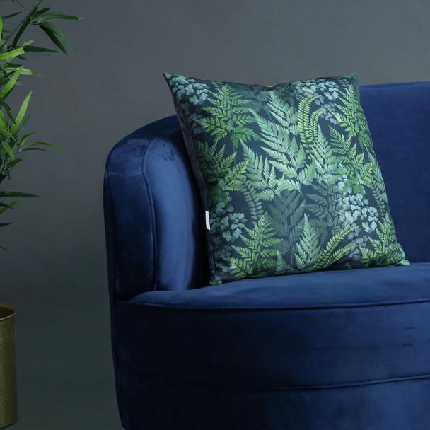 Opulent Velvet Cushion - Ferns