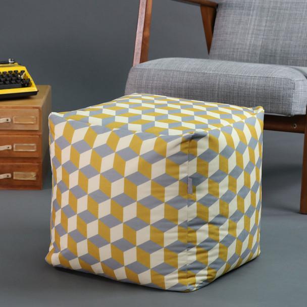 Cube Pouffe - Cube Mustard