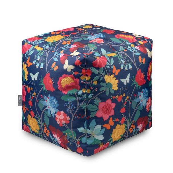 Water Resistant Garden Cube Pouffe - Midsummer Night