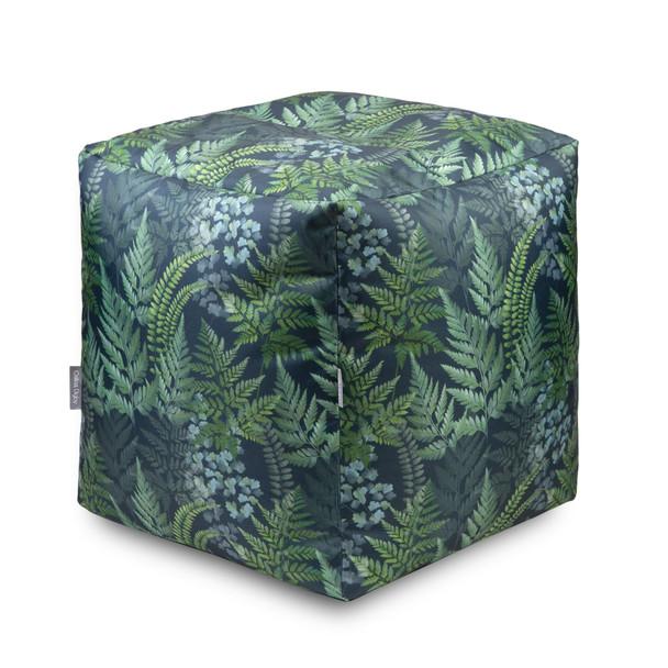 Water Resistant Garden Cube Pouffe - Ferns