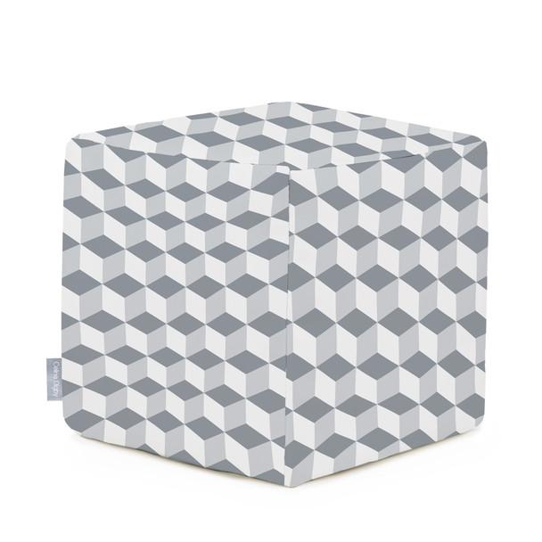 Water Resistant Garden Cube Pouffe - Cube Grey