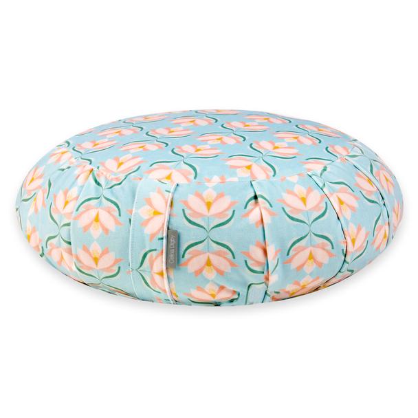 Zafu Traditional Pleated Cushion - Lotus Flower