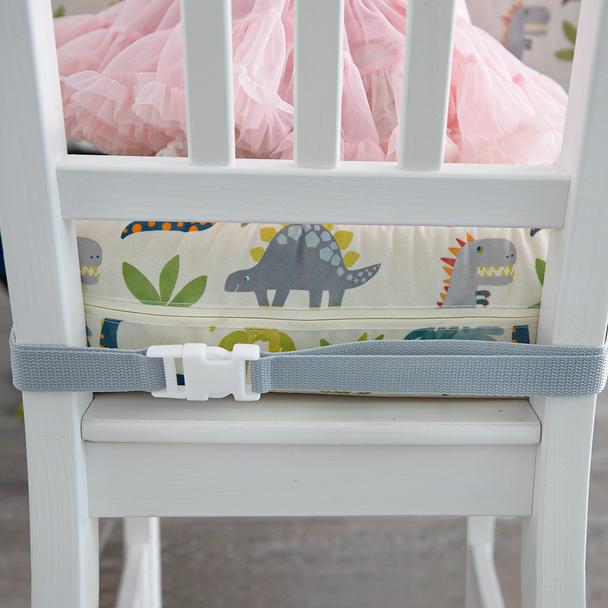 Children's Dinosaur Booster Cushions - Dino Days Cream