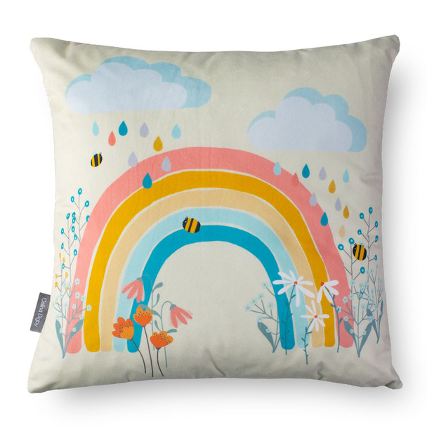 Children's Cushions - Bee a Rainbow Cream