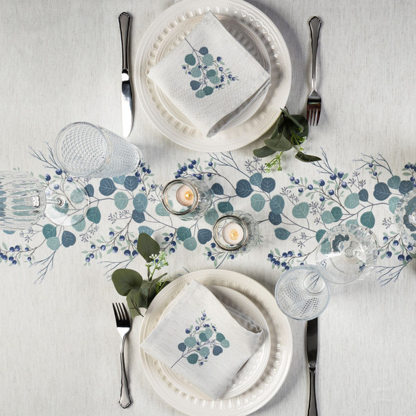 Christmas Tablecloths - Eucalyptus Garland