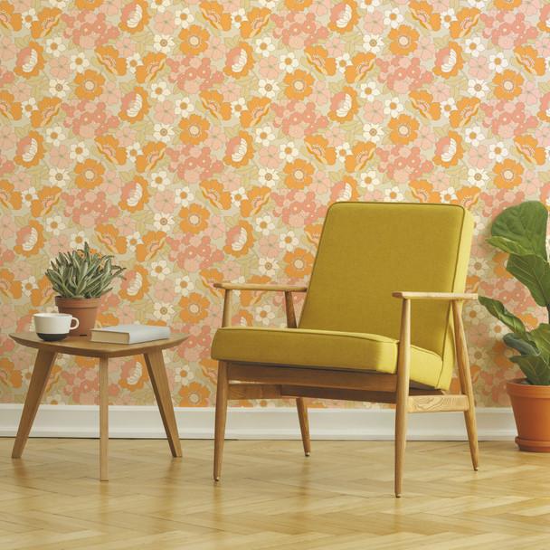 Retro Wallpaper - Flower Power