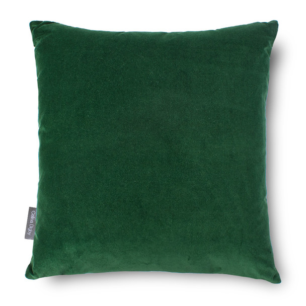 Opulent Super Soft Velvet Cushion - Forest Green - Available in 2 Sizes