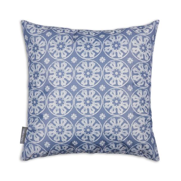 Water Resistant Garden Cushion - Casablanca Lilac/Blue