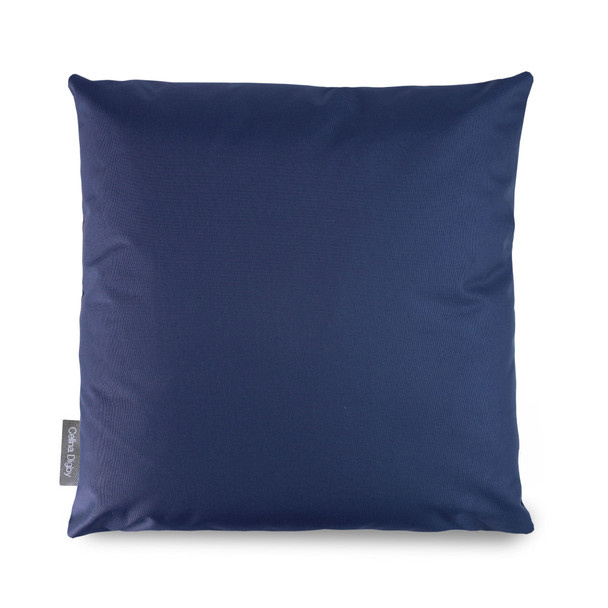 Water Resistant Garden Cushion -  Navy Blue - to Compliment Patterned Cushions
