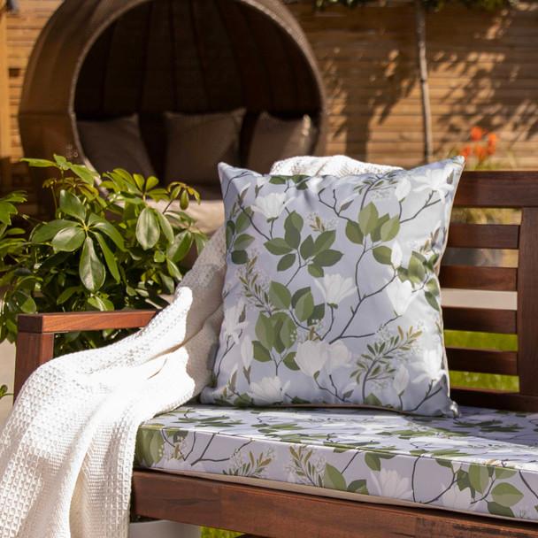 Water Resistant Garden Cushion - Magnolia Grey
