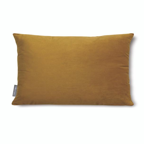 "Opulent Super Soft Velvet Cushion - Saffron - Rectangular 51cm x 30cm (20"" x 12"") Size"