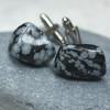 Tumbled Snowflake Obsidian Cufflinks