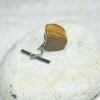 Gold Tiger's Eye Stone Tie Tack