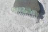 Aqua Sea Glass Hair Comb