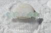 Frosted Aqua Sea Glass Hair Comb
