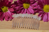 Single Genuine Frosted White Surf-Tumbled Sea Glass Hair Comb - Made to Order