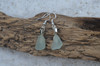 small Dangling Sea Foam Sea Glass Earrings