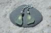 Tiny Sea Foam Sea Glass Earrings