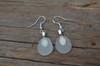 Dangling Frosted Beach Glass Earrings