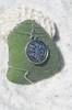 Clover Medalion Sea Glass Ornament