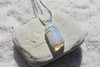 Wire Wrapped Opalite  Stone Necklace
