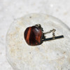 Red Tiger's Eye Tie Tack