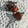 Red Tiger's Eye Cufflinks and Tie Tack