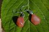 Apricot Agate Stone Earrings
