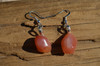 Apricot Agate Stone Earrings