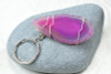 Pink Sliced Agate Key Ring
