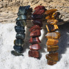 Colorful Trio of Tiger's Eye French Barrette Hair Clips