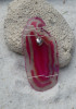 Heart Charm on a Wire Wrapped Agate Slice Ornament - Choose Your Agate Slice Color- Made to Order