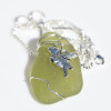When Pigs Fly Sea Glass Necklace