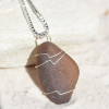 Amber Brown Sea Glass Necklace