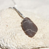 Cocoa Brown Sea Glass Necklace