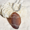 Cocoa Brown Sea Glass Pendant