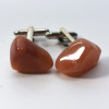 Peach Quartz  Stone Cufflinks