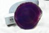 Purple Sliced Agate Night Light