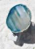Motion Activated Aqua Sliced Agate Night Light