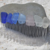 Surf Tumbled Sea Glass Hair Comb in a Rainbow of Colors