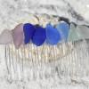 Rainbow of Sea Glass Hair Comb