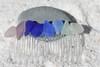 Rainbow of Surf Tumbled Sea Glass Hair Comb