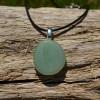 Green Aventurine Palm Stone  Necklace