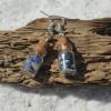 Sodalite Stones in Delicate Glass Vial Earrings