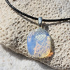 Opalite Palm Stone Pendant and Necklace