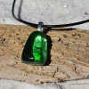 Tumbled Green Obsidian Necklace