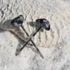 Snowflake Obsidian Stone Hair Pins